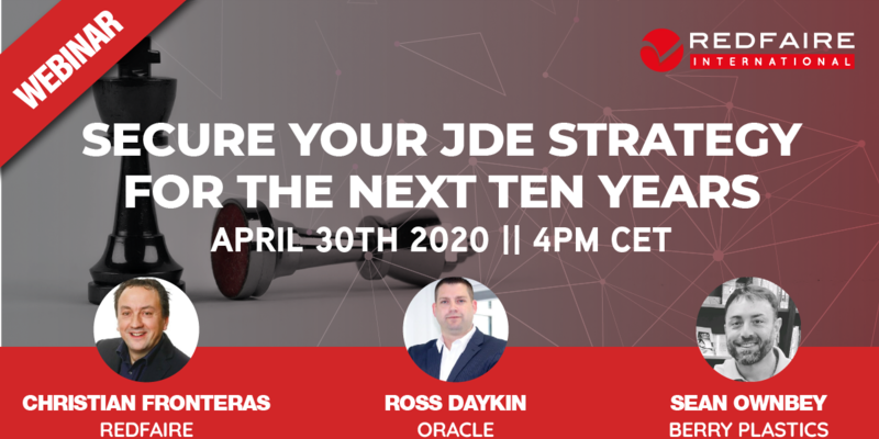 Redfaire International Webinar | Using Cloud to Secure Your Future with JDE